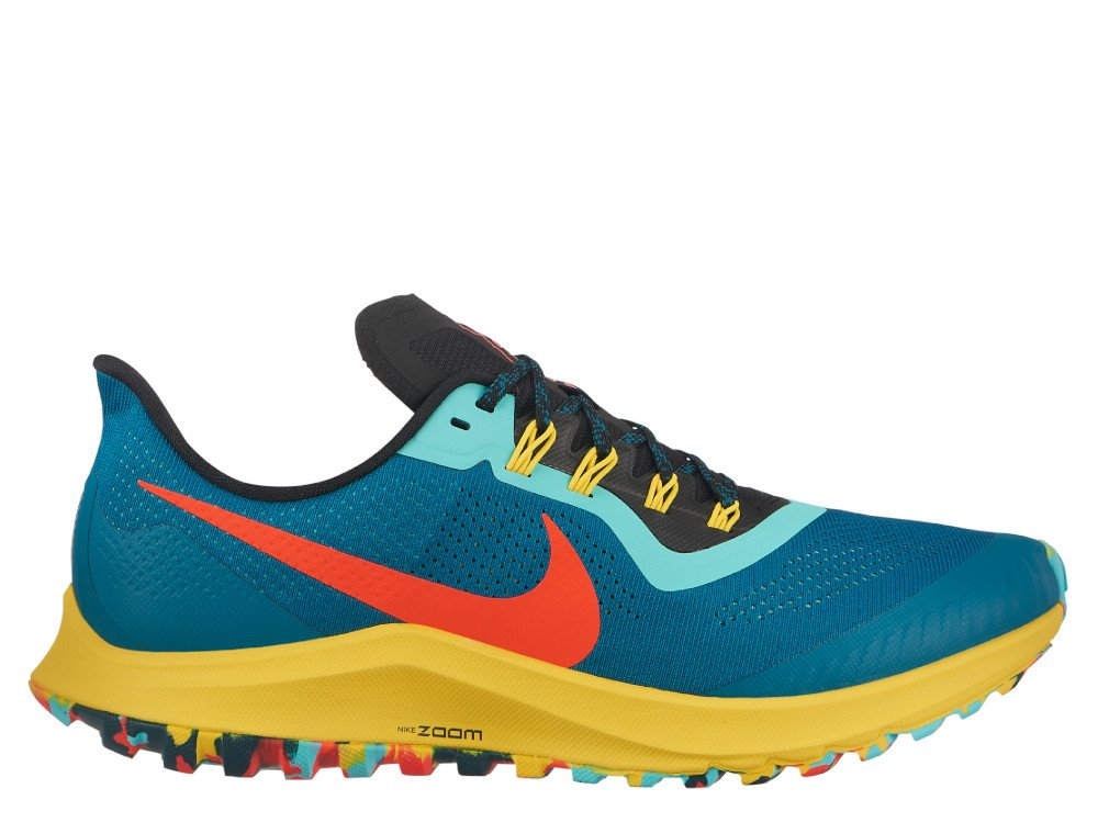 nike air zoom pegasus 36 trail m multikolor-turkusowe