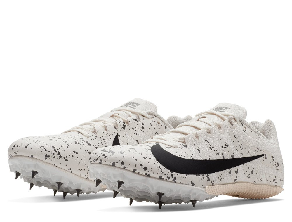 nike zoom rival s 9 unisex track spike beżowo-szare