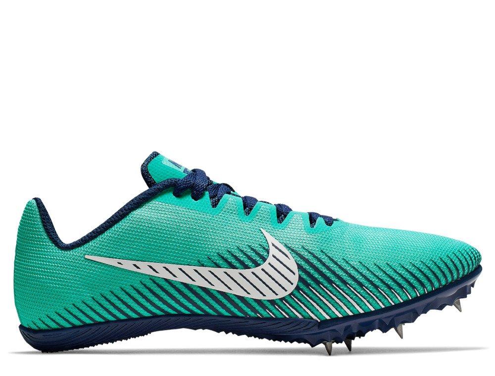 nike zoom rival m 9 track spike w niebiesko-turkusowe