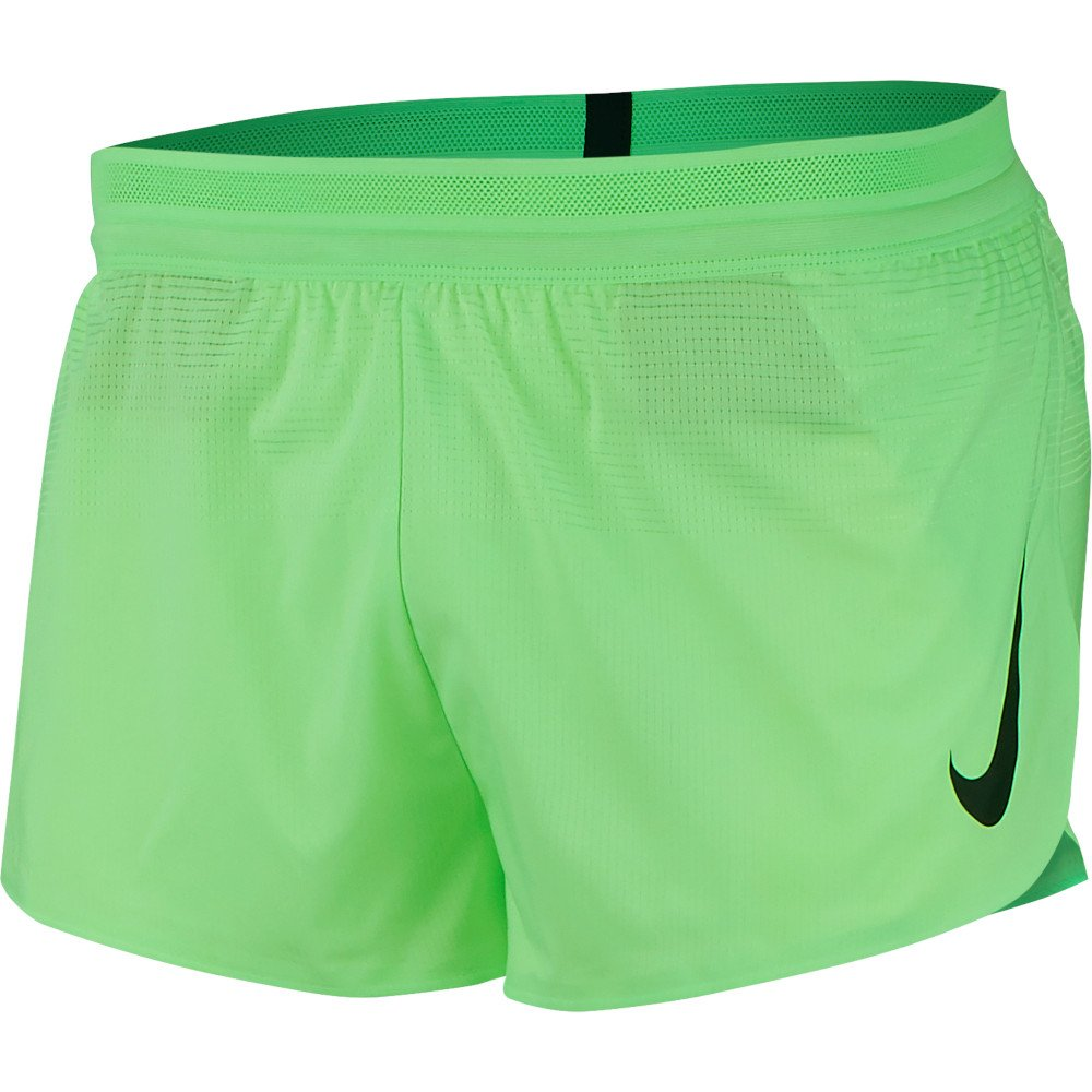 nike vaporknit london 2 inch shorts m limonkowo-zielone