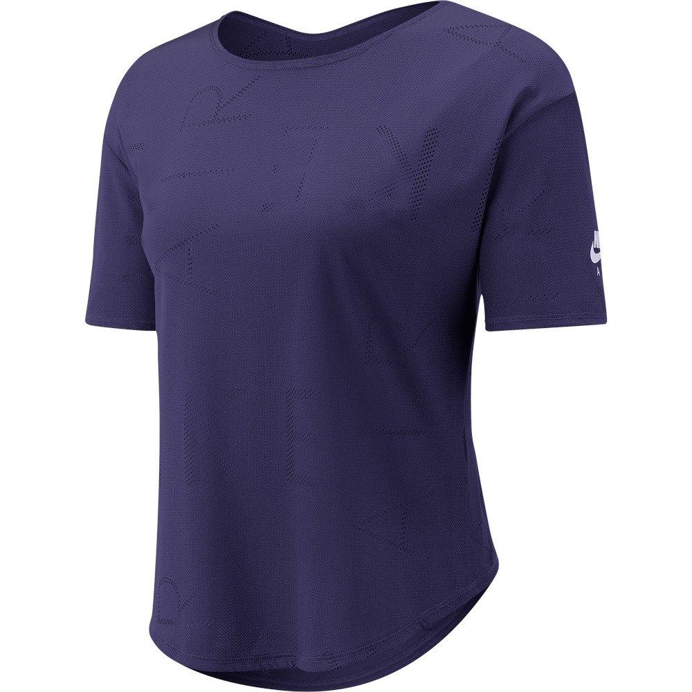nike air short-sleeve top w fioletowa