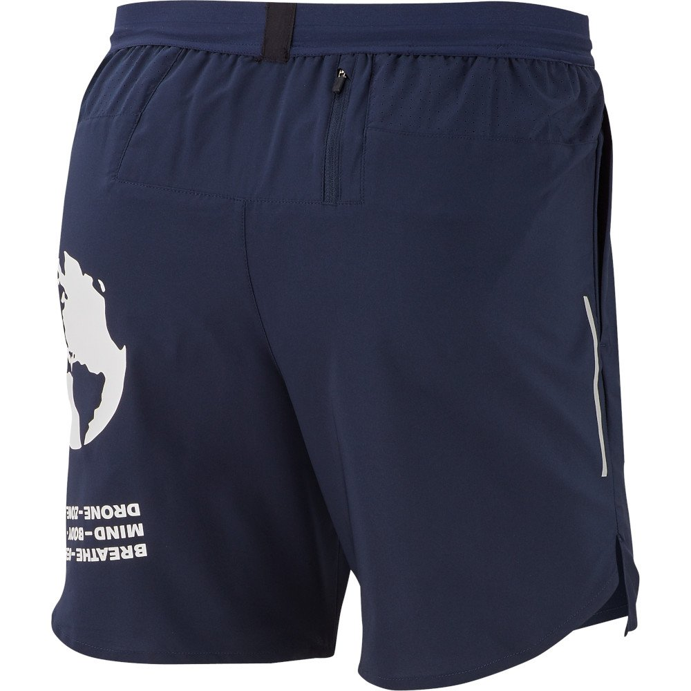 nike dri-fit flex stride 7 inch graphic shorts m szaro-granatowe