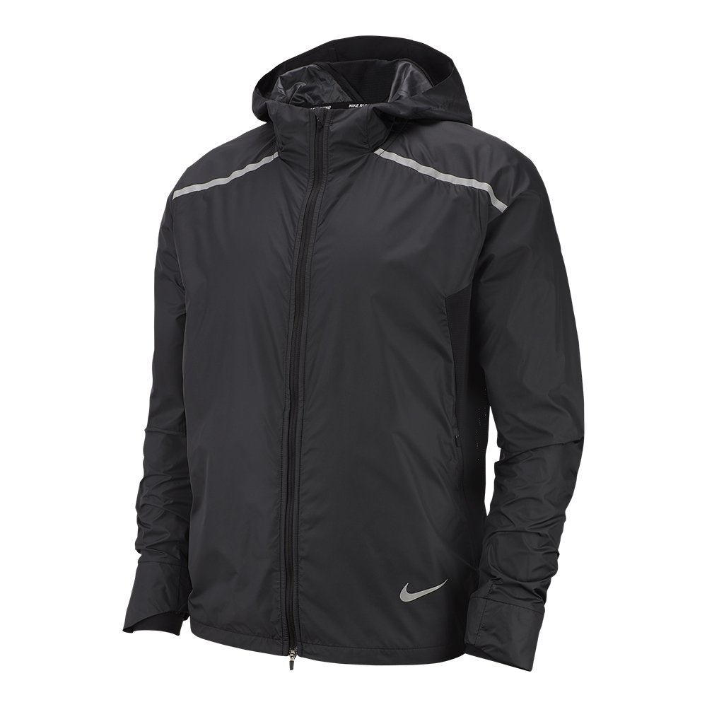 nike shield hooded jacket m czarna