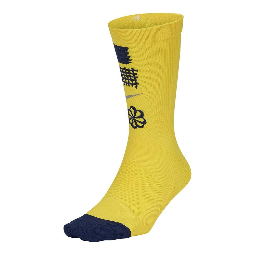 nike spark lightweight crew graphic sock Żółte