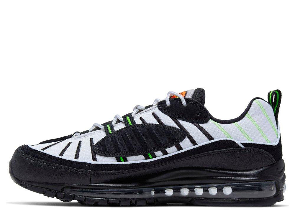 Buty Męskie Nike Air Max 98 Biało Czarne | WorldBox [640744
