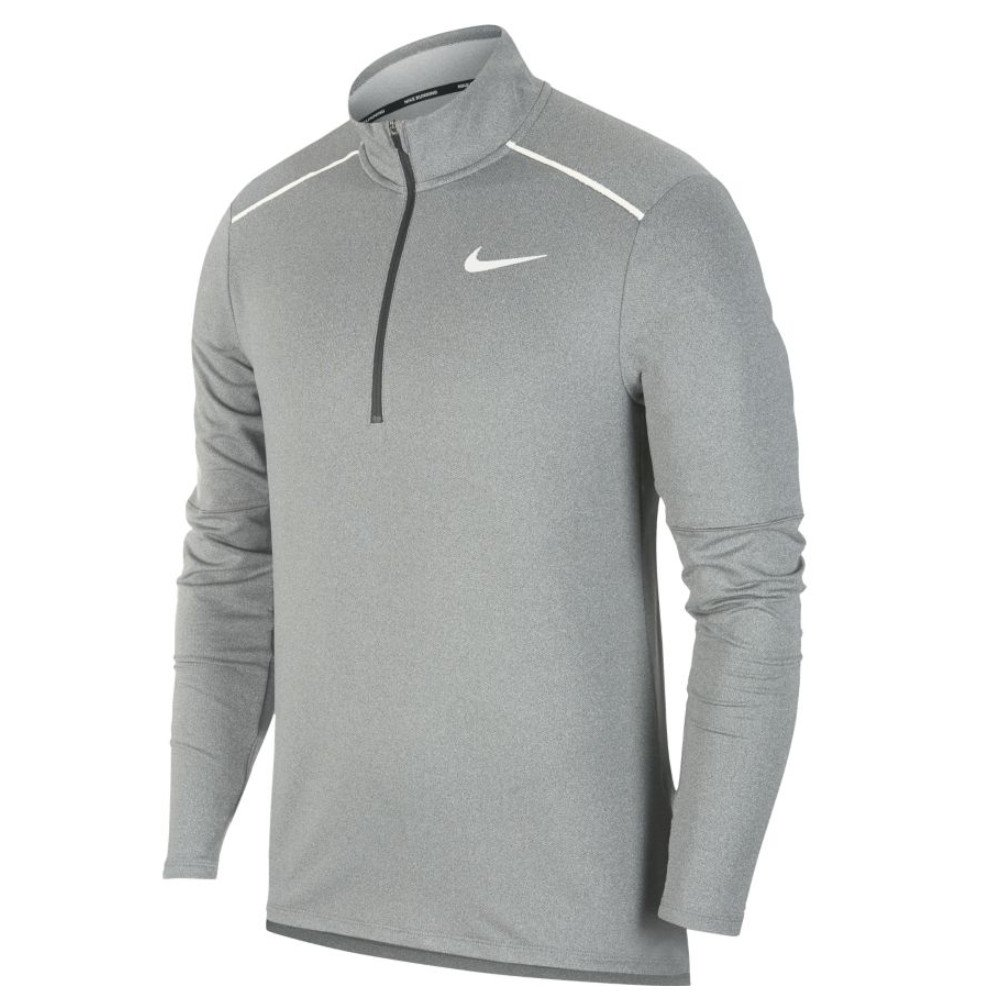 nike element 3.0 1/2-zip running crew m szara