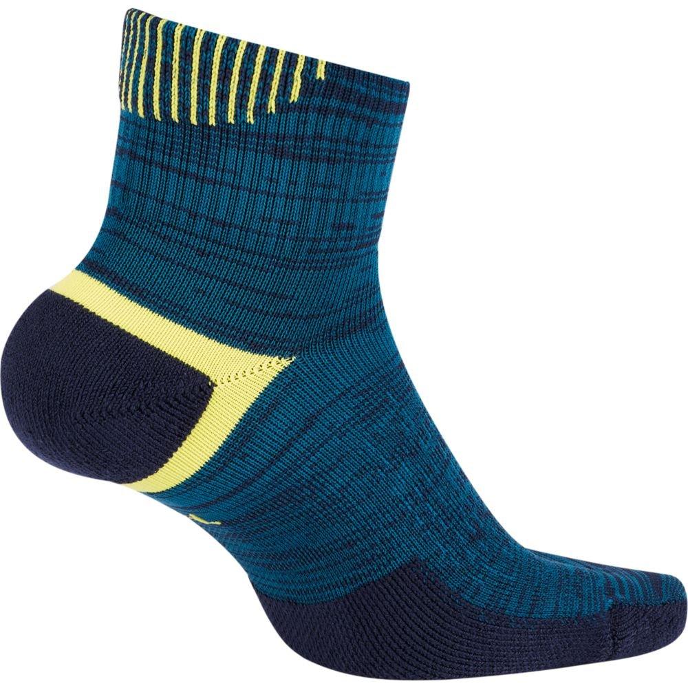 nike elite cushioned ankle u niebieskie