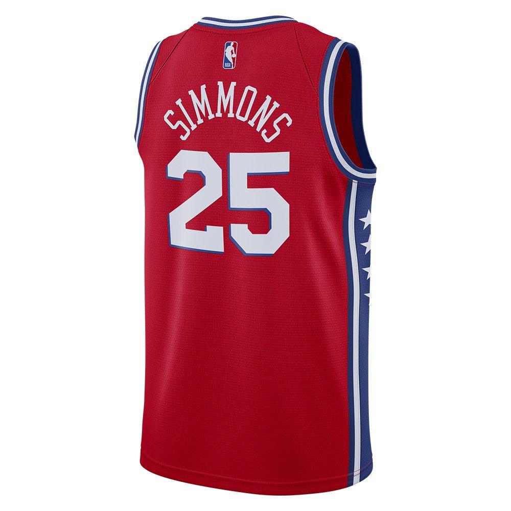 nike nba  philadelphia 76ers swingman jersey ben simmons #25 (at9812-658)
