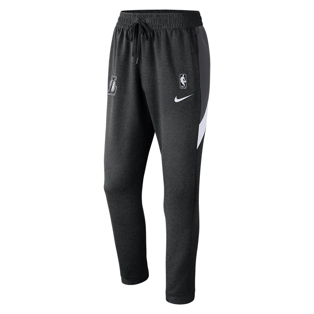 nike nba los angeles lakers therma flex showtime pants black (at8533-032)