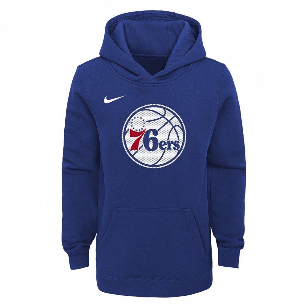 nike hoodie po logo essential 76ers rush blue ndj (ez2b7bbmm-76r)