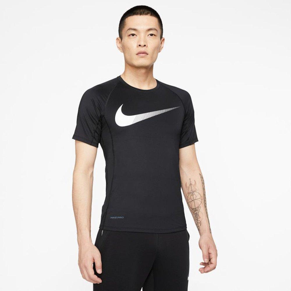 nike pro short-sleeve graphic top m czarna