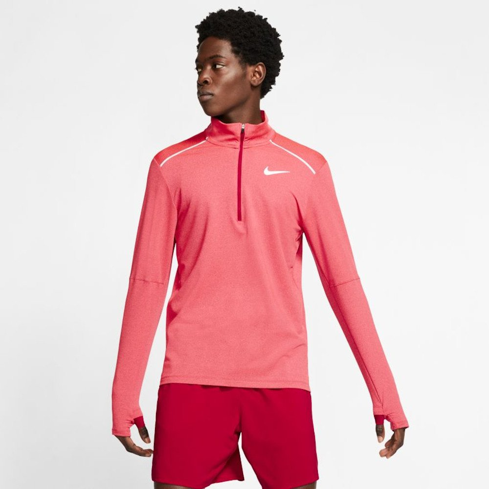 nike element top half-zip 3.0 m czerwona