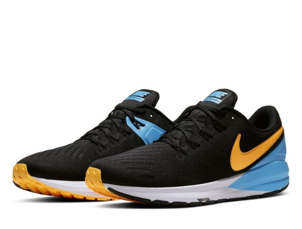 buty nike air zoom structure 22 m black/laser orange-university blue-white