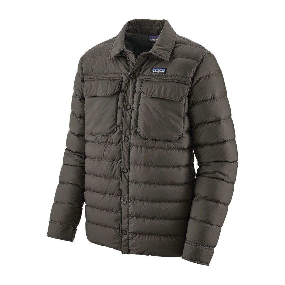 patagonia men's silent down shirt jacket (27925-fge)