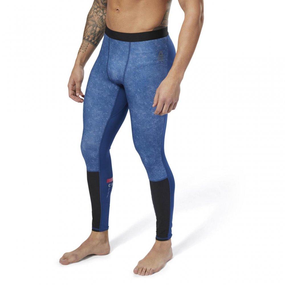 legginsy reebok rc compression tight blu/bk