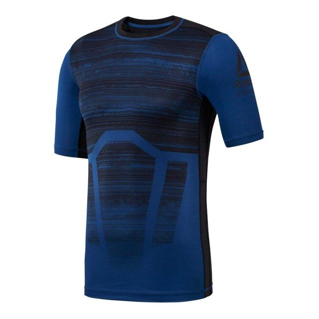 reebok activchill compression tee aop blue black