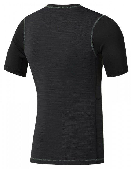 reebok activechill graphic compresion tee chill green