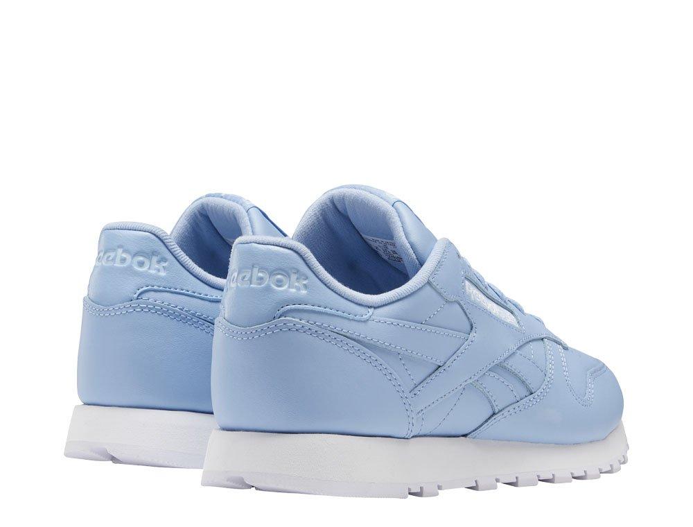 reebok classic leather damskie niebieskie (ef3036)