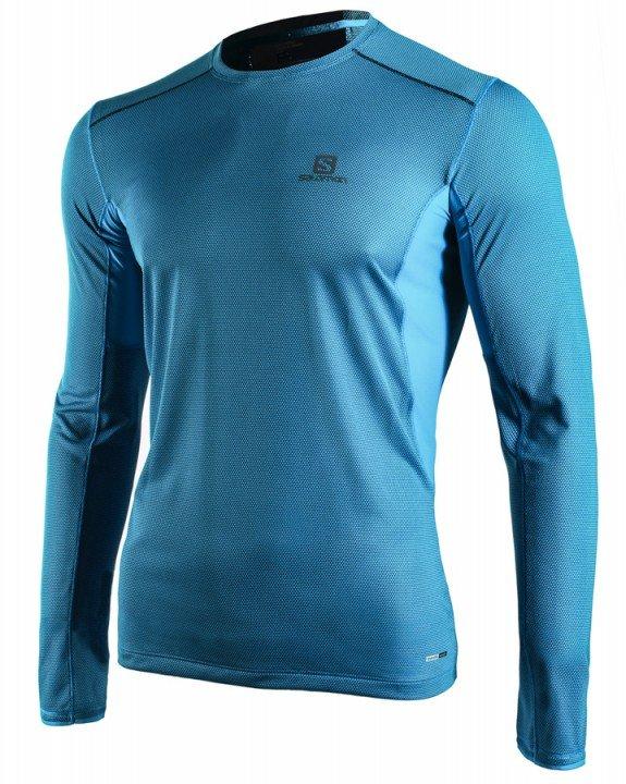 salomon trail runner long sleeve blue
