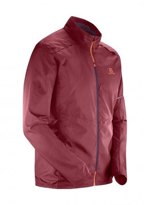 salomon agile wind jacket red