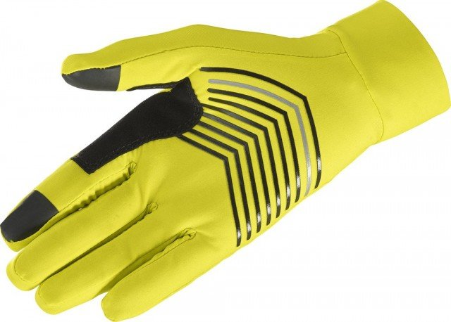 salomon pulse glove sulphur spring/black