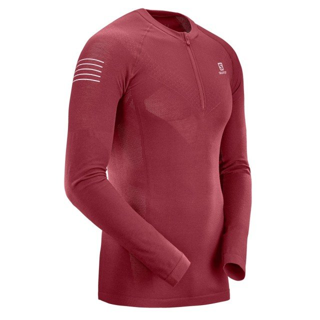 salomon exo motion hz ls tee red