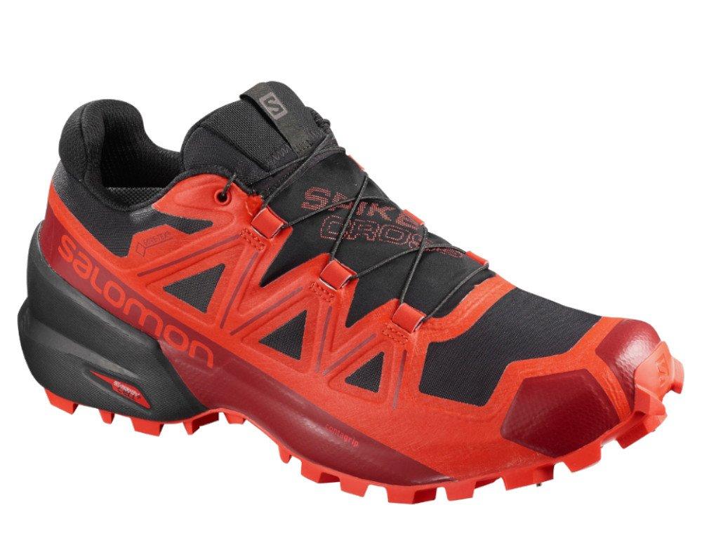 salomon spikecross 5 gtx m czarno-czerwone