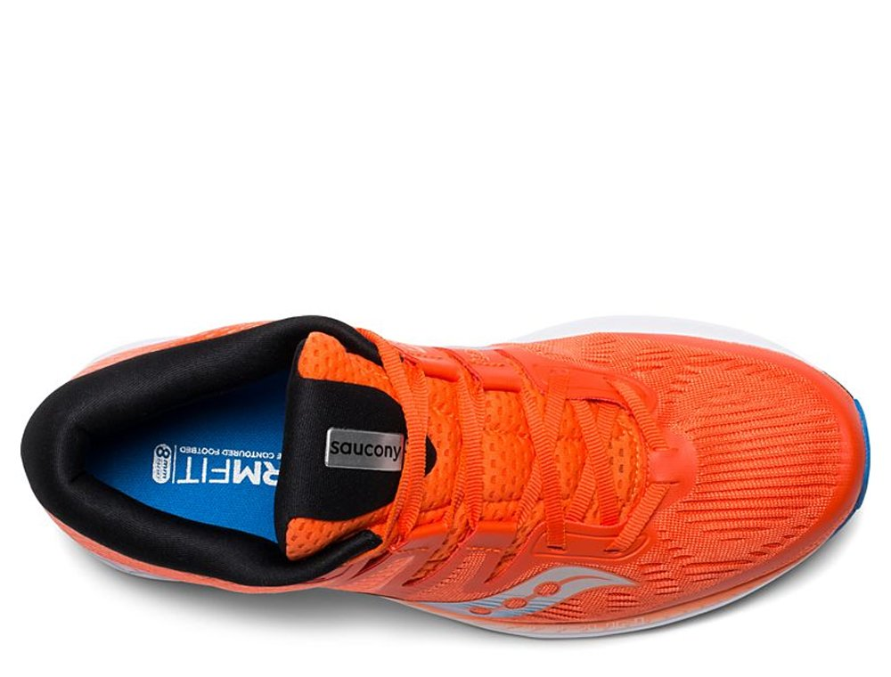 saucony ride iso orange blue