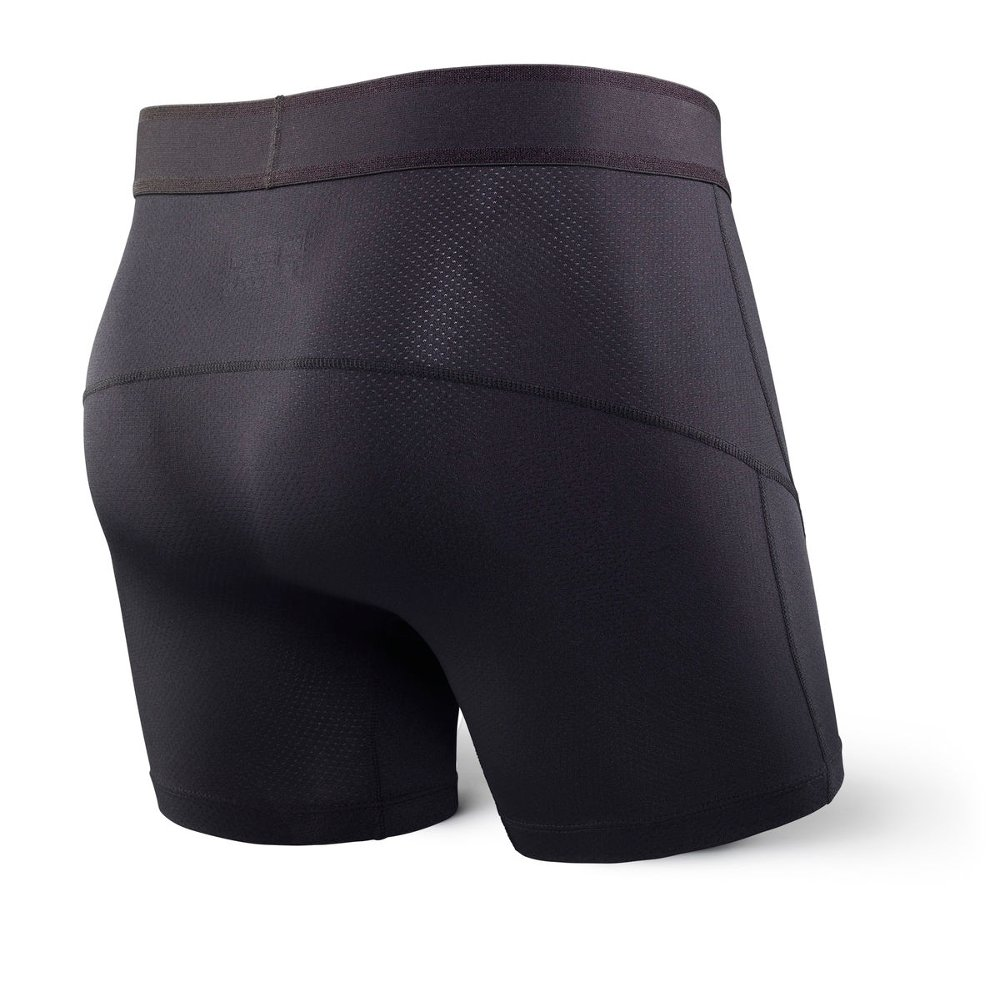saxx kinetic boxer briefs m czarne