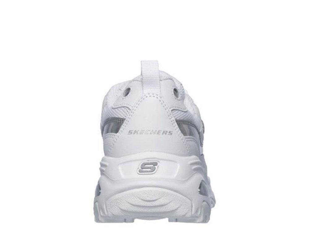 skechers d-lites damskie białe (13160-wsl)