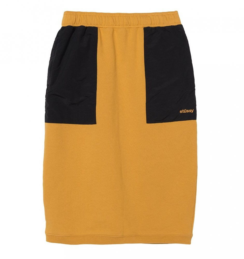 stussy simone contrast pocket skirt (214485-0205)