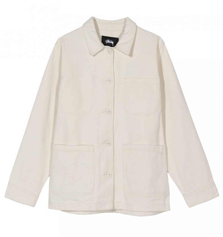 stussy aurora washed chore jacket (215096-1002)