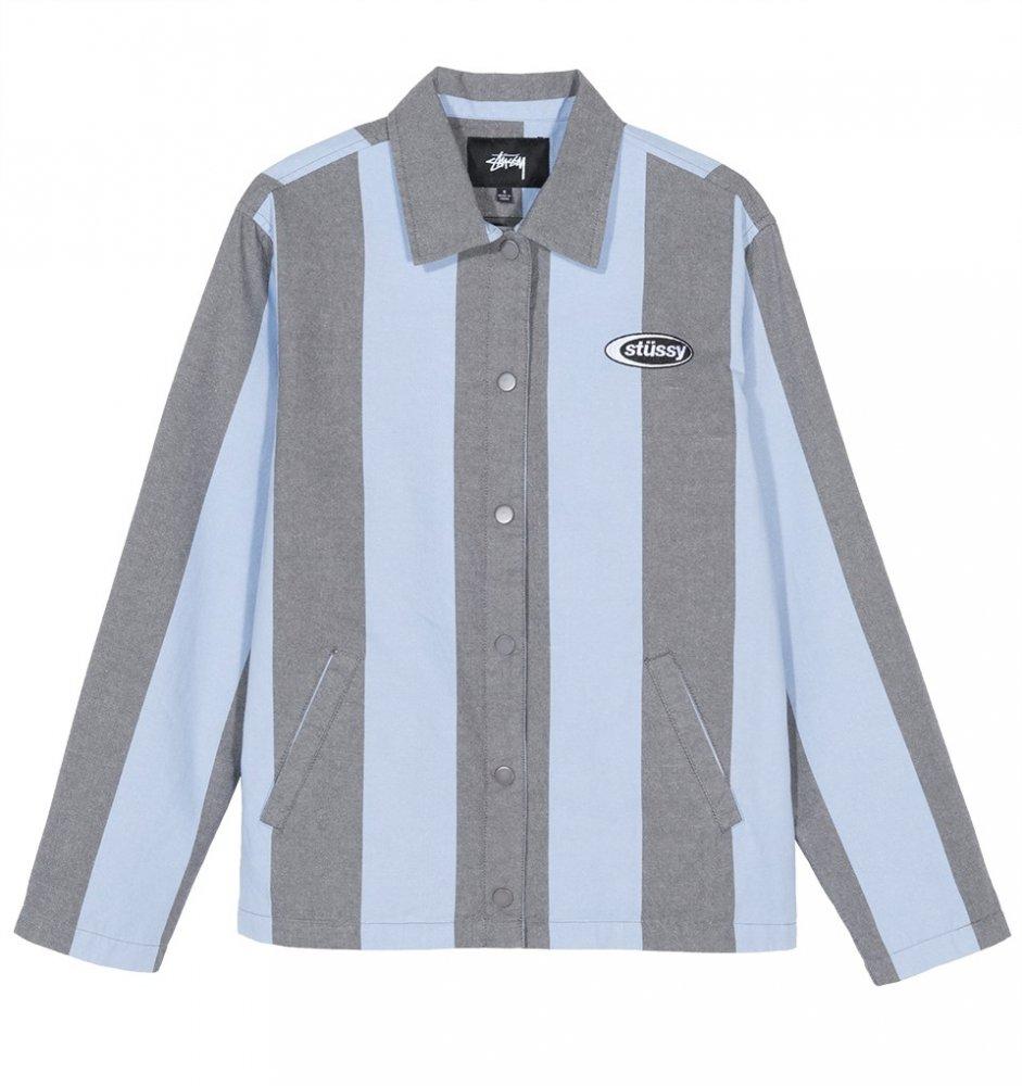 stussy etta striped coach jacket (215099-0801)