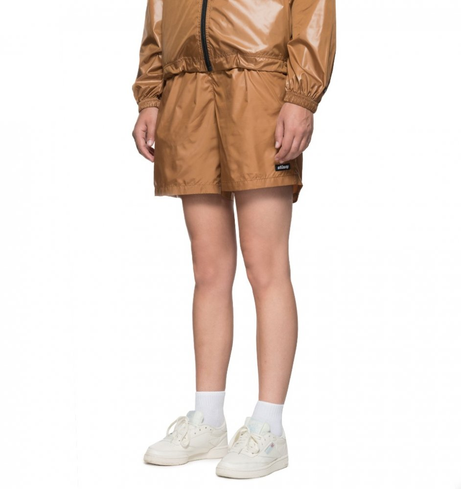 stussy langley shiny baggy short (212051-1005)