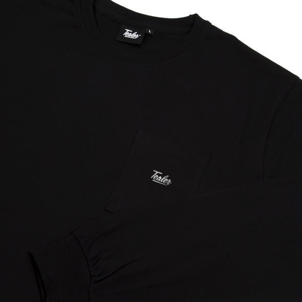 tealer high fit long tee black (tealer-014)