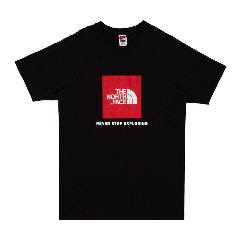 koszulka the north face raglan red box tee (t93bqojk3)