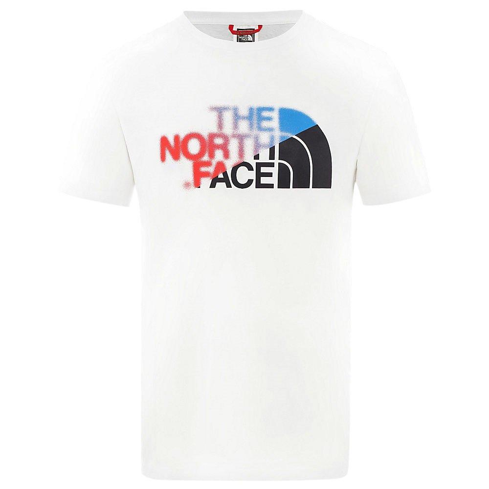the north face m ss bd gls-eu tnfwht/clrlkblu