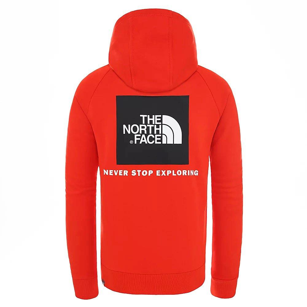 the north face m raglan red box hoodie (nf0a2zwu15q)