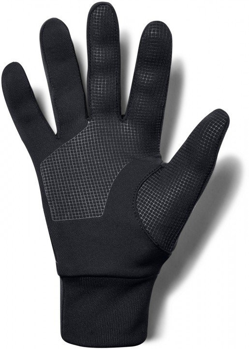 under armour storm run liner gloves black