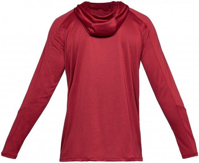 under armour lighter longer po hoodie red