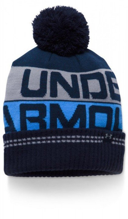 under armour men's retro pom beanie 2.0 navy