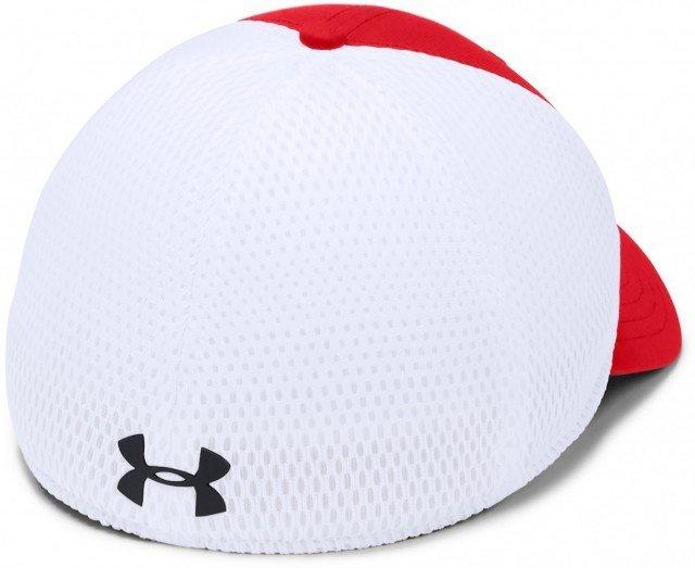under armour men's train spacer mesh cap red white