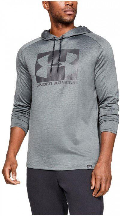 under armour lighter longer po hoodie grey