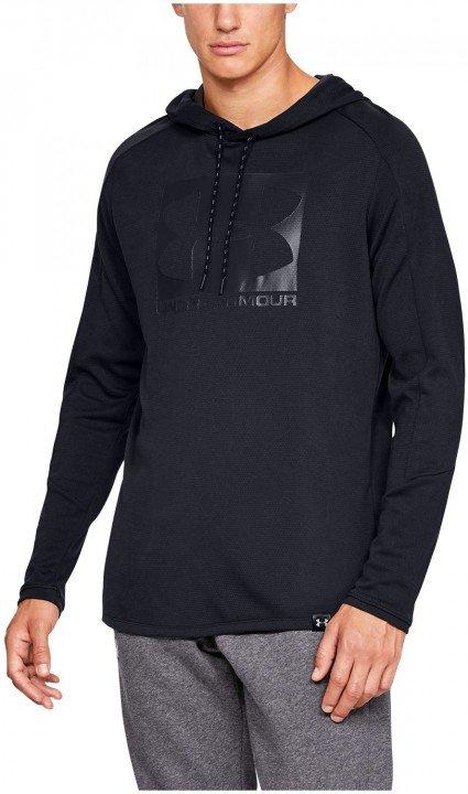 under armour lighter longer po hoodie black