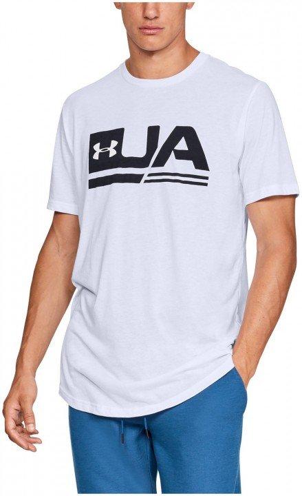 under armour ua sportstyle short sleeve drop hem white