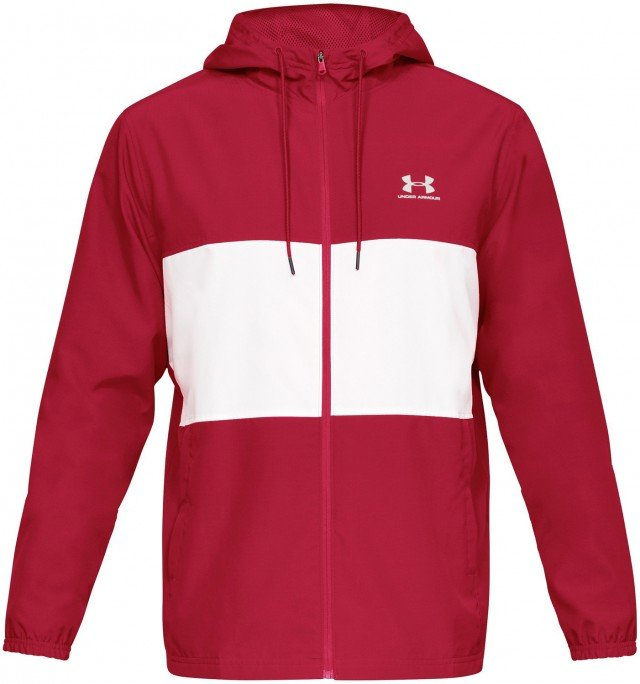 under armour sportstyle wind jacket red