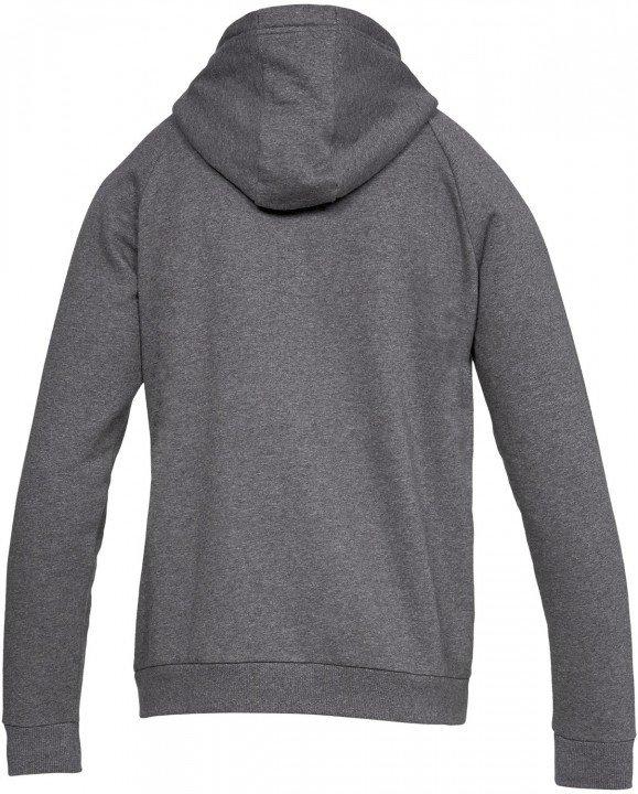 under armour rival fleece full zip hoodie grey