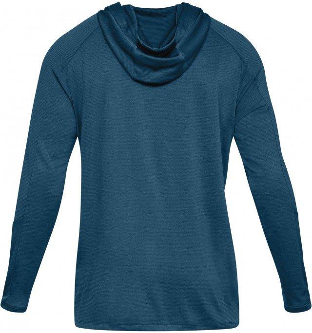 under armour lighter longer po hoodie blue