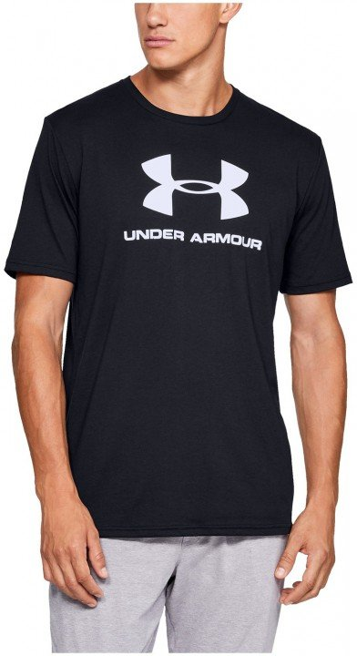 under armour sportstyle logo short sleeve black