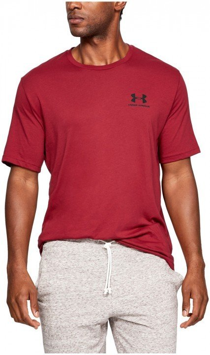 under armour ua sportstyle left chest ss red